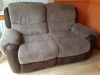 2 X TWO SEATER SOFAS AND SINGLE CHAIR