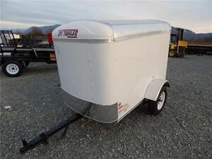 2017 4x6 ROUND TOP ENCLOSED CARGO TRAILER