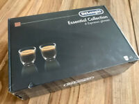 Delonghi Espresso Glass Double Wall Thermo Cups - set of 6. Brand new in sealed box.
