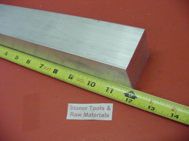 "1-3/4""x 1-3/4"" ALUMINUM SQUARE 6061 FLAT BAR 12"" LONG SOLID T6511 Mill Stock"