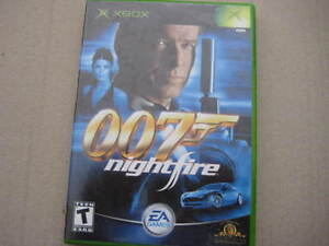 original xbox game: 007 night fire. T. Like new disc, manual and