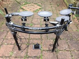 2nd Hand Roland V-Drum Electronic Kit- (MDS-20 Rack, 5x Pd-5s, FD-7 Hi-Hat & KD-5 Kick Drum Pedal)