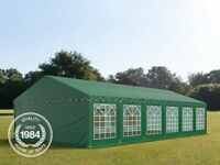 6x12m Marquee / Party Tent, PVC 500 g/m², dark green, bought from houseoftents with carry bags