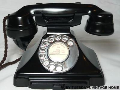 ART DECO VINTAGE BAKELITE TELEPHONE GPO 232 + bell mint PYRAMID retro DIAL PHONE