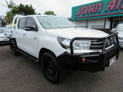 2016 Toyota Hilux GUN126R SR Double Cab White 6 Speed Sports Automatic Cab Chassis Mount Gravatt Brisbane South East Preview