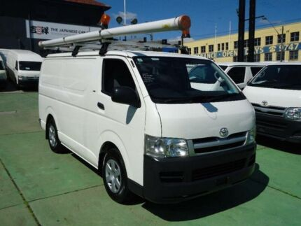 2007 Toyota Hiace KDH201R MY07 Upgrade LWB White 5 Speed Manual Van Canada Bay Canada Bay Area Preview