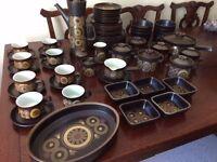 60 piece Denby Arabesque pottery dinner service