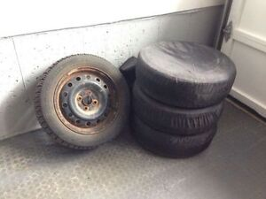 4 Nordic Goodyear Winter Tires w/Rims and Covers 195/55/15