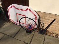 Heavy Duty Wall Mounted Full Size Basketball Backboard Hoop Net FOR SALE