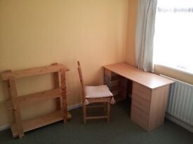 nice spacious sunny bedroom, furnished