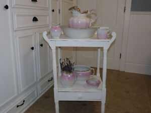 Antique, 4 Dry Wash Pitcher and Basin Stands/ Commodes/Chairs
