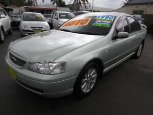 2003 Ford Falcon BA Futura Ice Mint Silver 4 Speed Auto Seq Sportshift Sedan