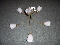 1 x 5 bulb ceiling light fitting