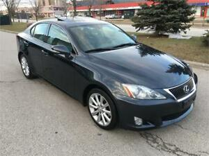 2010 LEXUS IS 250*NAVI*CAMERA*NO ACCIDENT*SPORT PKG*PHONE*PADDLE