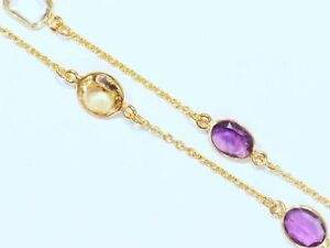 .925 Sterling Gemstone Necklace, Appraised at $870!