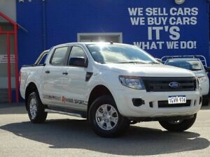2015 Ford Ranger PX XL Double Cab 4x2 Hi-Rider White 6 Speed Manual Utility
