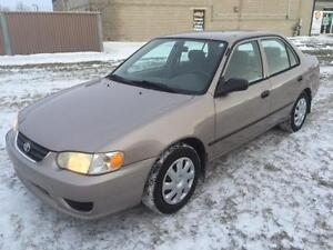 2001 Toyota Corolla CE $1100 165200 kms
