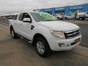 2014 Ford Ranger PX XLT Super Cab 4x2 Hi-Rider White 6 Speed Sports Automatic Utility Fyshwick South Canberra Preview