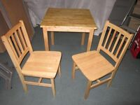 Dining Table with 2 chairs . Ikea Bjorkudden