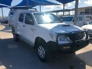 2012 Toyota Hilux KUN26R MY12 SR (4x4) White 5 Speed Manual Dual Cab Chassis Bohle Townsville City Preview