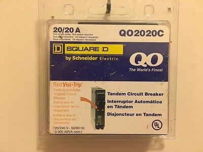 Square D Circuit Breaker Qo2020c 2p 20a New