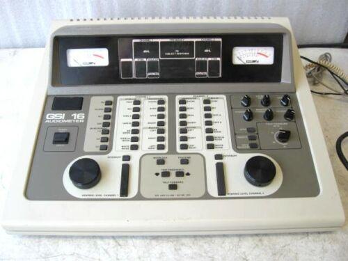 GSI 16 2 Channel Audiometer model 1716 w/ headphones