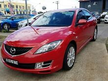 2008 Mazda 6 GH Classic Red 6 Speed Manual Sedan Five Dock Canada Bay Area Preview