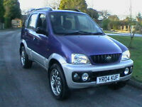 04 REG DAIHATSU TERIOS 1.3 SPORT 5 DOOR 4X4 ESTATE IN METALLIC BLUE OVER SILVER