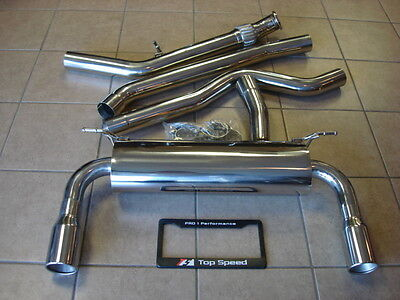 BMW F30 335i Coupe Sedan 12-16 Performance Exhaust System 76mm Piping 89mm Tips