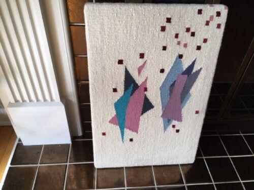 Vintage Hand Woven Wool Textile Art/Fiber Art Abstract Wall Hanging/Modern