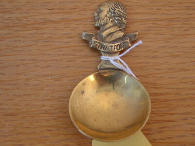 Solid brass tea caddy spoon Shakespeare's Stratford