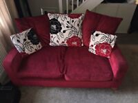 sofa two and a three with black and cream scatter cushions, collect in tree weeks
