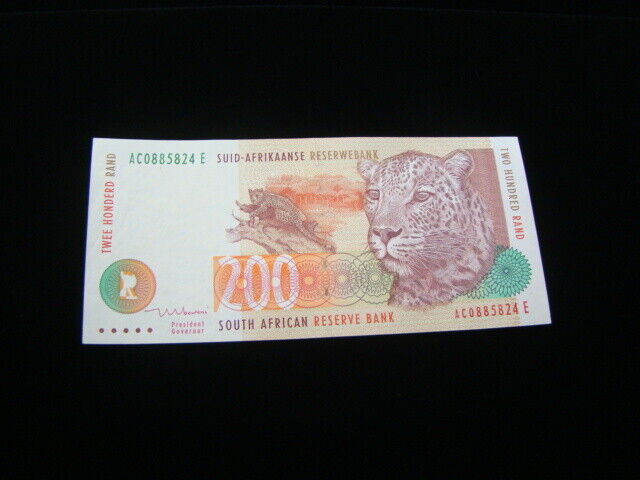 South Africa 1999 200 Rand Banknote Uncirculated Pick #127b