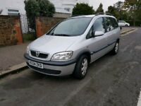 VAUXHALL ZAFIRA 2004, 7 SEATER DRIVES PERFECT LONG MOT EXCELLENT CONDITION INSIDE AND OUT £595