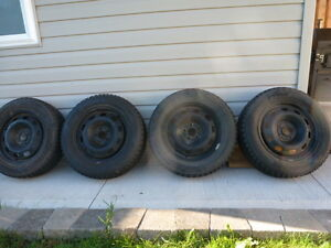 Hankook I Pike winter tires with steel rims
