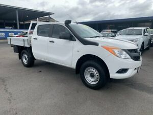 2015 Mazda BT-50 UP0YF1 XT White 6 Speed Manual Cab Chassis Bungalow Cairns City Preview