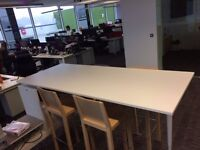 Stylish Breakout Table, with Storage & Chairs For Sale