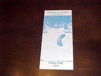 1979 Georgia Southern Eagles Golf Media Guide  Georgia Southern Eagles Golf