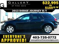 2013 Dodge Journey R/T AWD $169 bi-weekly APPLY NOW DRIVE NOW