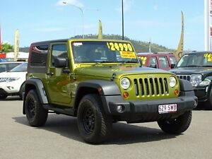 2007 Jeep Wrangler JK Sport Green 5 Speed Automatic Softtop Garbutt Townsville City Preview