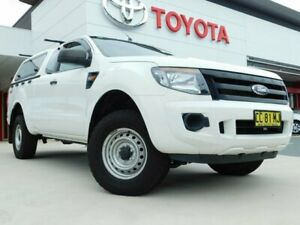 2015 Ford Ranger PX XL Super Cab White 6 Speed Manual Cab Chassis