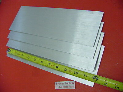 4 Pieces 14 X 4 Aluminum 6061 Flat Bar 12 Long T6511 New Mill Stock .25