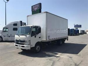 2013 HINO 195D WITH 18FT BODY AND 3,300LB TAILGATE