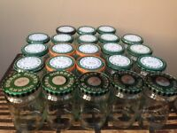 24 x 375ml Deurr's embossed glass jars and lids ( 10 easy opening) for homemade jams and jellies