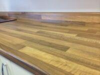 Walnut Block Laminate Kitchen Worktop - Brand New 12 foot long.