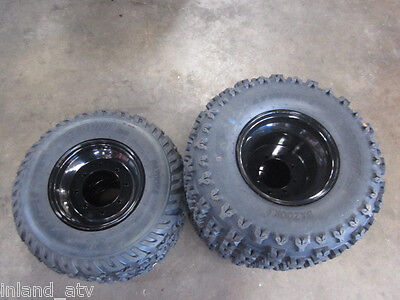 SUZUKI LTZ 400  Front Wheels /& Tires on Polished BOSS RACING Rims 21X7-10