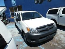 2008 Toyota Hilux TGN16R 08 Upgrade Workmate White 5 Speed Manual Dual Cab Pick-up Homebush West Strathfield Area Preview