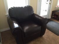 Faux leather chair in excellent condition