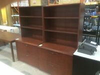 Used Filing Cabinets with Bookcases (1) Available