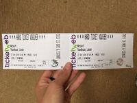 2 x WARPAINT Tickets for SOLD OUT 27 Oct Roundhouse Standing